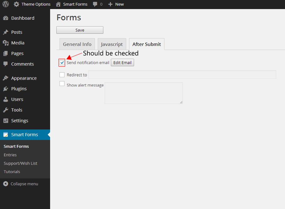 Not receiving form submission in your email | Smart Forms
